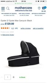 Oyster carry cot black