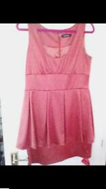 Ladies satin dress size 14 new with tags