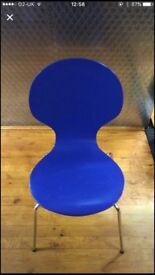Blue cafe chair £8.50 Each