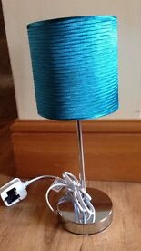 Table Lamp Turquoise Shade