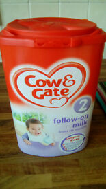 Cow and Gate milk powder, unopened, b/before 21.02.17