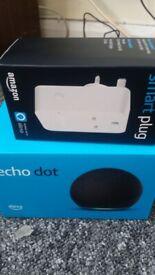 Amazone dot 4th gen (black) with smart plug