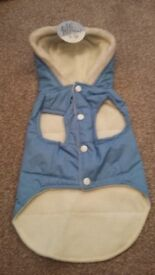 Cute Fleeced lined brand new never been used Dog coat in blue