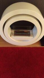 Globus white bioethanol fireplace