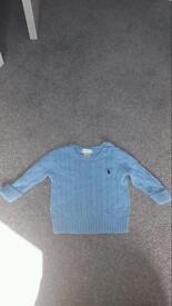 Boys 9m ralph lauren knit jumper