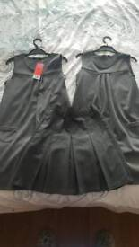 Girls school pinafore dress and skirt