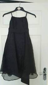Girls black party dress 6-7 years