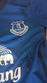 Everton signed shirt