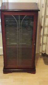 Mahogany hi-fi cabinet