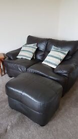 Leather Sofas and stool