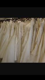 Job lot of ex rental wedding dresses