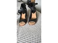 Organza Shawl Sandals Black