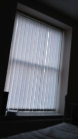 White vertical blinds - several available - only 6 months old