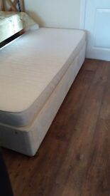 Single divan bed and matteress. Excellent condition!