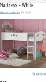 Brand new hearts mid sleeper cabin bed (white)
