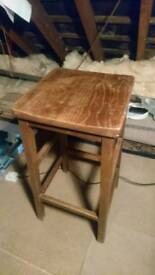 Tall vintage work stool