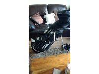 New golf bag, big fella clubs, new trolley, every thing you need to start playing tomorrow