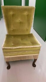 Upholstered chair suitable for bedroom, nursery or general use. £18.00 ono