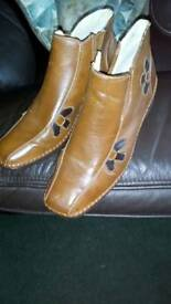 Ankle boots pvc size 6