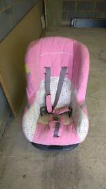 Baby pink car seat