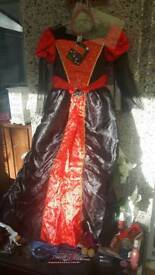 NEW WITH TAGS HALLOWEEN COSTUME GOTHIC BALL GOWN AGE 10/11