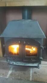 Villager log burner wood burner