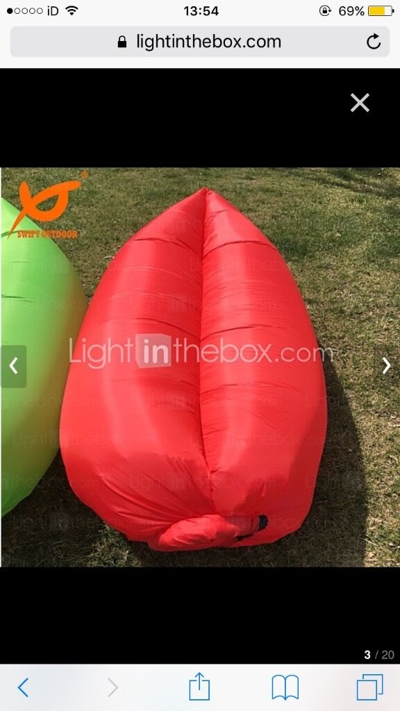 Inflatable 'festival' chair