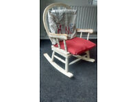 Chic, Vintage, Retro Wooden Children Rocking Chair