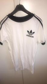 Black and white Adidas top