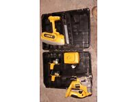 Dewalt second fix nail gun and jigsaw