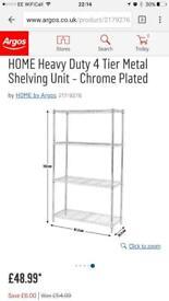 Argos heavy duty metal shelving unit ex condition