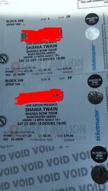X2 Shania Twain live tickets for Manchester arena September 22nd 2018