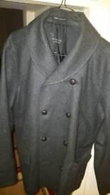 Grey lapel Cashmere jacket