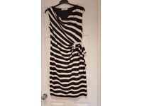 Petite size 12 black and white dress