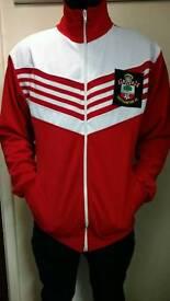 Southampton FC official retro track suit top size adult S