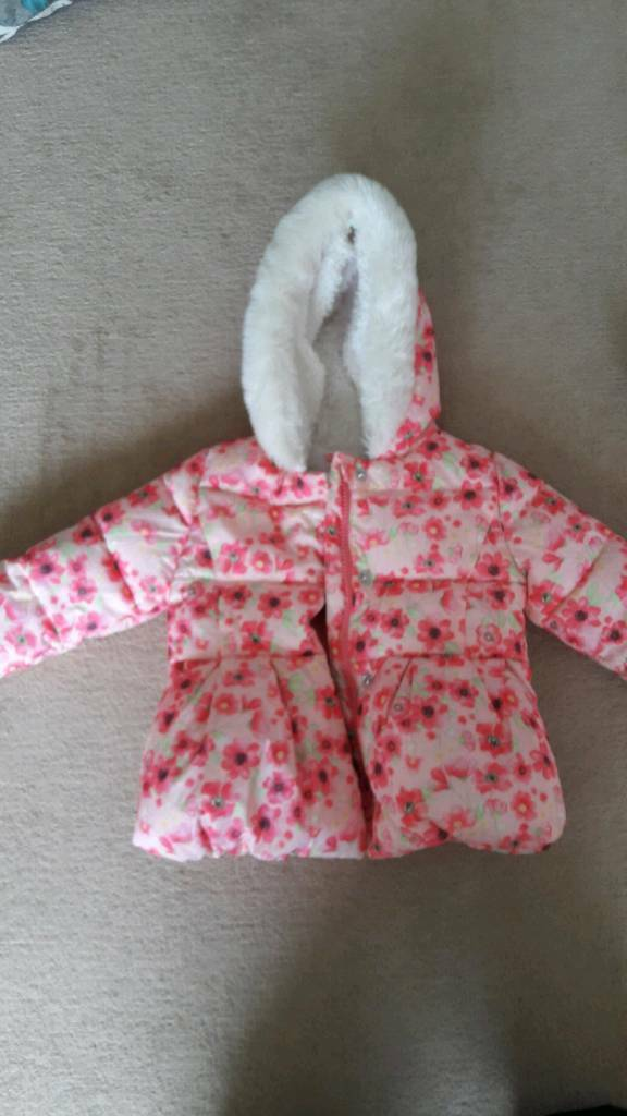 mothercare 9-12 months pink coat
