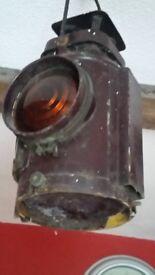 VINTAGE RAILWAY LAMP UNRESTORED