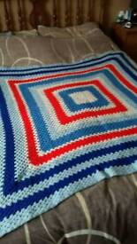 Handmade crocheted blanket