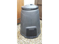 330 Litre Black Compost Bin for Food and Garden Recycling