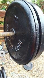 cast iron weights plates 2 x 20 kg