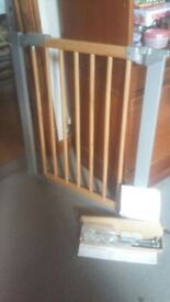 Baby gate, John lewis, BabyDan Avantgarde pressure indicator safety baby gate and extensions.