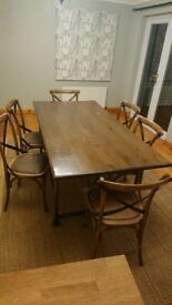Dining table +6 chairs