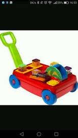 Fisher Price Peek a Blocks Wagon and Roll-a-rounds