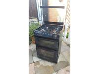 Cannon Henley 60cm Dual Fuel Cooker (Gas/Electric) - Black