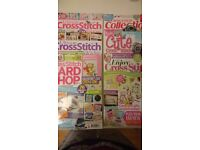 Huge Collection of Cross stitch Magazines for Sale