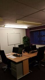 Fully equipped shared office space available to rent