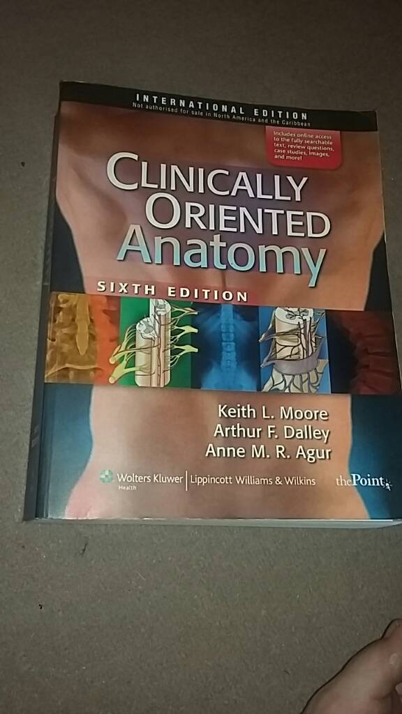 Clinically Oriented Anatomy Textbook | in Haddington, East Lothian ...