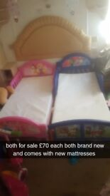 brand new toddler beds x2