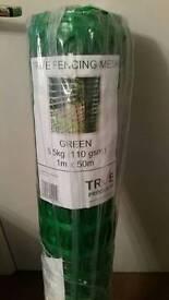 Green Plastic Barrier fencing mesh