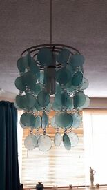 Jade/teal glass light shade